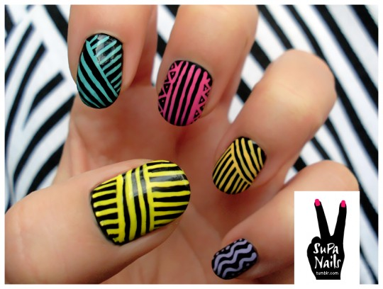 Supa-nails-stripey-tribal1-540x408